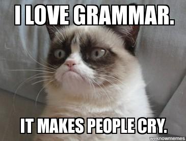 http://weknowmemes.com/generator/meme/Grumpy-Cat-I-love-grammar/228909/
